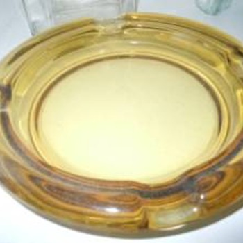 Amber Glass Ashtray