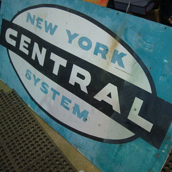 Great Pick- New York Central System Steel Railroad Sign - Signs