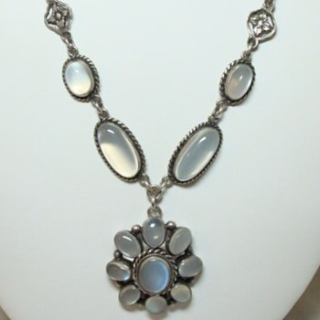 Arts and Crafts Moonstone Necklace - Fine Jewelry