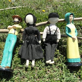 Ceramic Amish Figures / Amish Dolls
