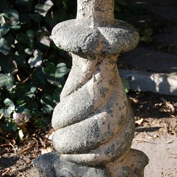 Garden Post - Cement and Stone - Victorian Era