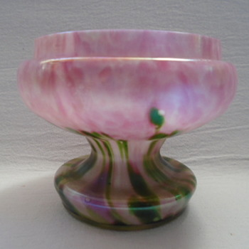 Welz Art Deco Iridescent Rose Bowl