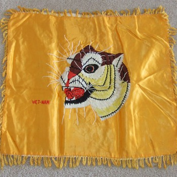 Viet Nam War, theater made souvenir pillow covers - Military and Wartime