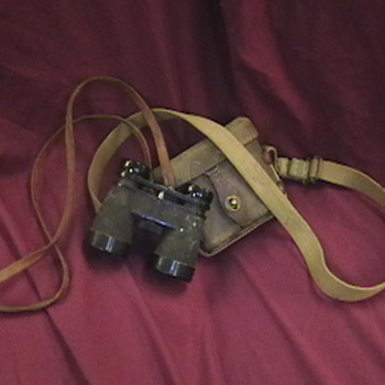 WW II Japanese Binoculars and Carrying Case