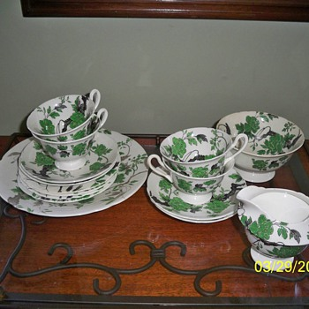 Chippendale Pattern / Shelley China Dessert Set