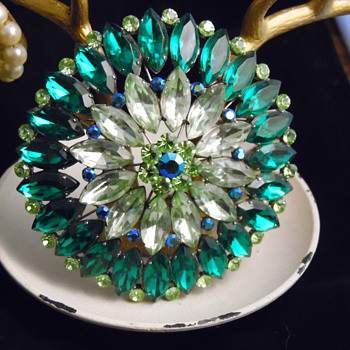 Fabulous Green Brooch