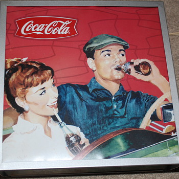 Authentic Vintage Coca Cola small square lamp