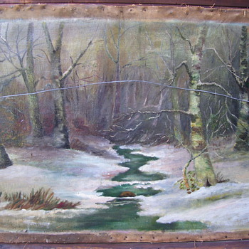 ANTIQUE oil painting by J. FREDRIK - Visual Art