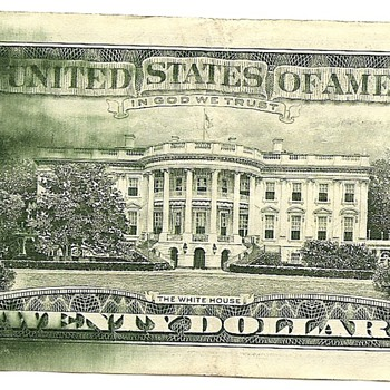 US $20 error note (smear) - US Paper Money