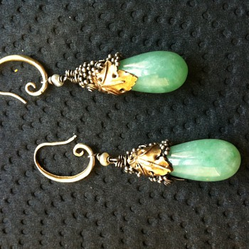 Dorrie Nossiter earrings completed!