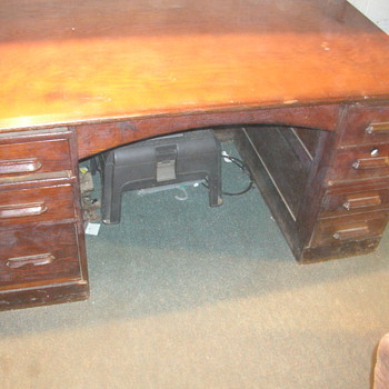 oak railroad desk