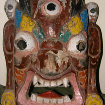 Himalayan Demon Mask - Folk Art