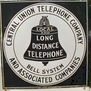 Central Union Telephone Company Porcelain Sign - Signs