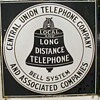 Central Union Telephone Company Porcelain Sign