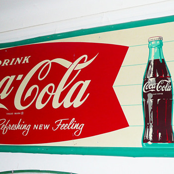 Coca Cola Horizontal Sign 1960's - Coca-Cola