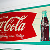 Coca Cola Horizontal Sign 1960's