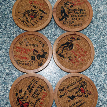 Quirky 1950's coasters - Kitchen