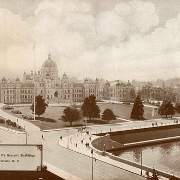 """""""Provincial Parliament Building"""" Victoria - Circa 1917"""