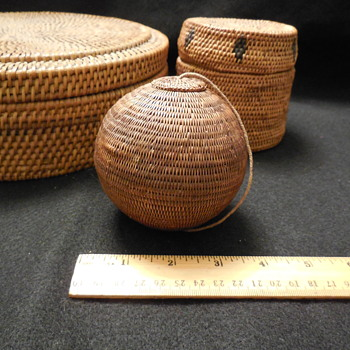 Here's Another Small Lidded Basket... Inuit?... Lombok, Indonesia? - Furniture