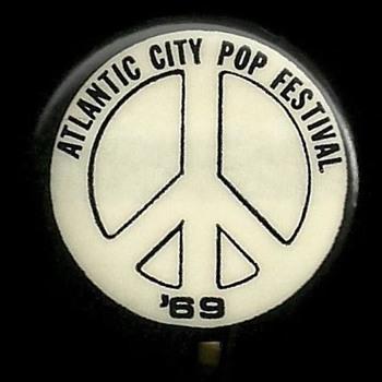 Atlantic City Pop Festival 1969 Pinback Button - Medals Pins and Badges