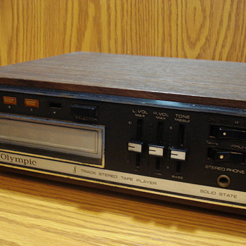 Olympic 8 Track Stereo Tape Player Solid State