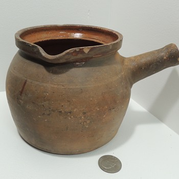 1750-1850 American Redware Pipkin - Probably New Jersey - Folk Art