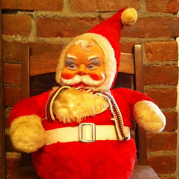 Vintage plush santa by Bijou Toys Inc. NYC
