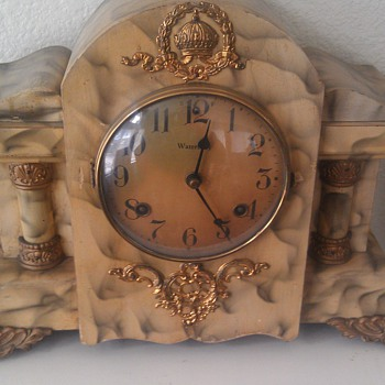 Antique Waterbury 8 Day Mantel Clock - Clocks