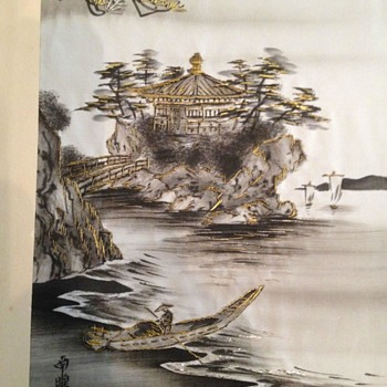 Japanese painting on silk