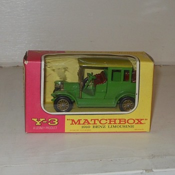 Matchbox Models of Yesteryear Y-3 1910 Mercedes Limousine - Model Cars