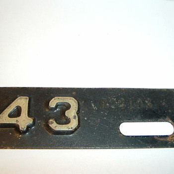 "Stamped Mini 3-1/2"" License plate Tag"