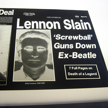 John Lennon / Beatles item, historically significant yet tragically sad... - Music