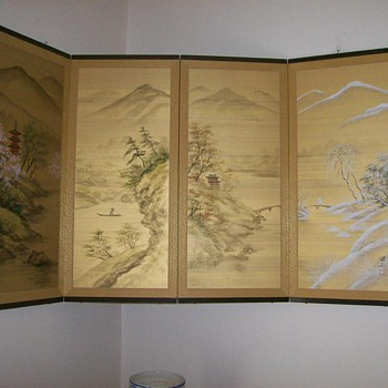 Japanese Byobu Four Screen  - Asian