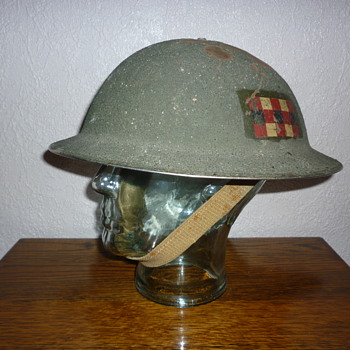 Scots Guards steel helmet WWII