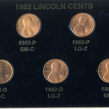 1982 Lincoln Cents - US Coins