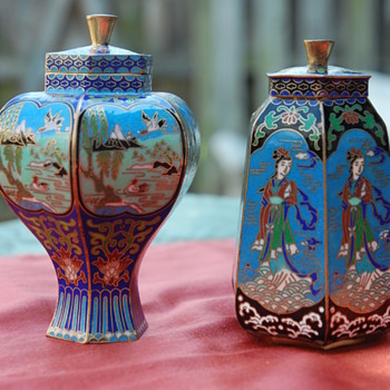 Asian Enamel Cloisonne - Asian