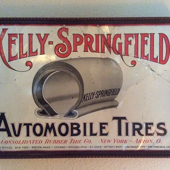 Kelly-Springfield Automobile Tires / Consolidated Rubber Co. - Signs