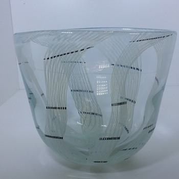 "Lithuania Glass 9"" Vase Claire"