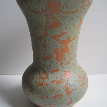 Orange Peel Glaze American Arts & Crafts Era Vase - ID Unknown