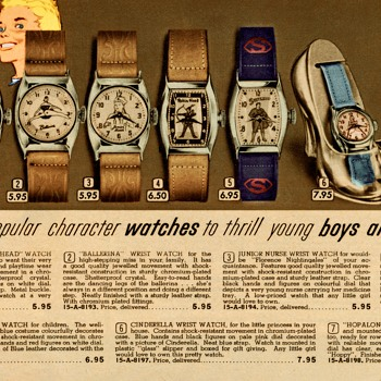 Canadian Character Watches in Eatons Spring & Summer 1954 Catalog