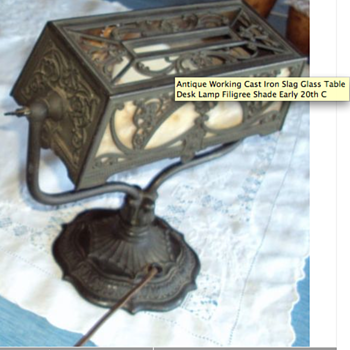 Antique Desk Bankers Lamp - Lamps