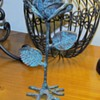 Metalwork Wrought Iron Rose Sculpture
