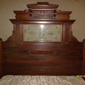 Black Walnut New England Style Bed - Furniture