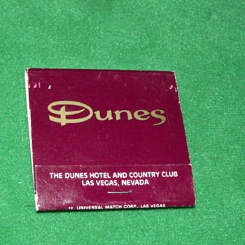 Vintage Dunes Casino Matchbook ~ Las Vegas, Nevada