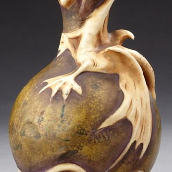 Dragon Vase by Amphora - Art Pottery