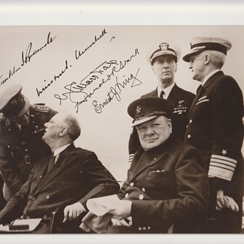 Original FDR and Churchill Signed Photo
