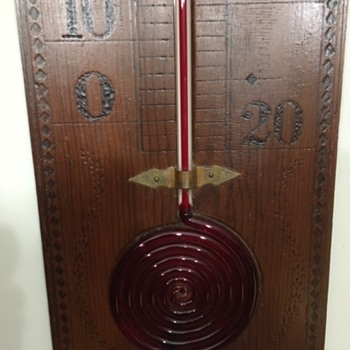 Scientific Apparatus thermometer - Advertising