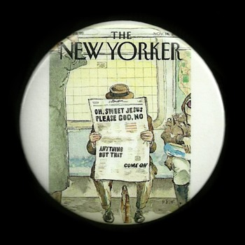Nov 14 2016 The New Yorker Pinback Button - Medals Pins and Badges