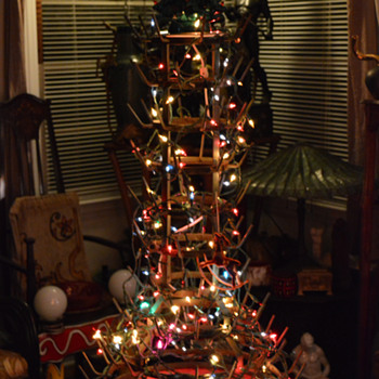 HAVE A MERRY DADA XMAS! Art Nouveau Bottle Rack 1914 as a tree.