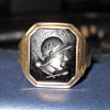 Hematite Ring with Roman Soldier
